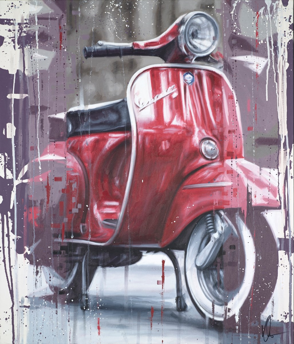 Vespa II by kris hardy -  sized 24x28 inches. Available from Whitewall Galleries